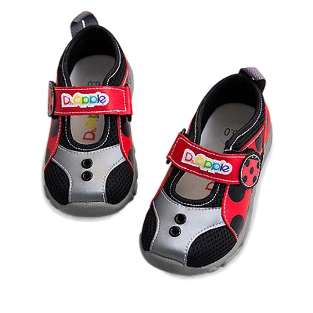 【Dr. Apple 機能童鞋】MIT超輕量可愛瓢蟲造型童鞋 紅