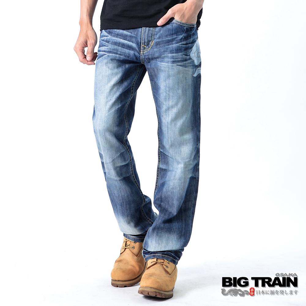 BIG TRAIN 日式達磨天行者垮褲-男-淺藍
