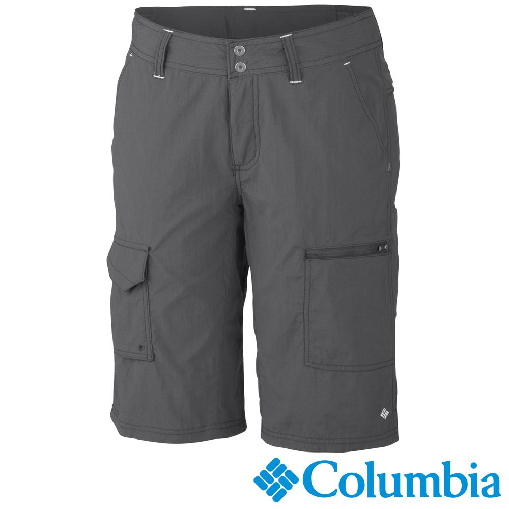 【Columbia哥倫比亞】女-快排防曬50短褲-炭灰色 UAL45960CC