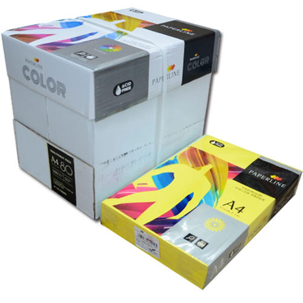 PAPERLINE 210 / 80P / A4 檸檬黃  彩色影印紙  (500張/包)