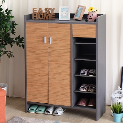 EASY HOME高台置物鞋櫃收納28雙鞋(84.8x32.3x118cm)-DIY