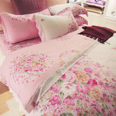 義大利La Belle 甜蜜約定 加大天絲四件式被套床包組