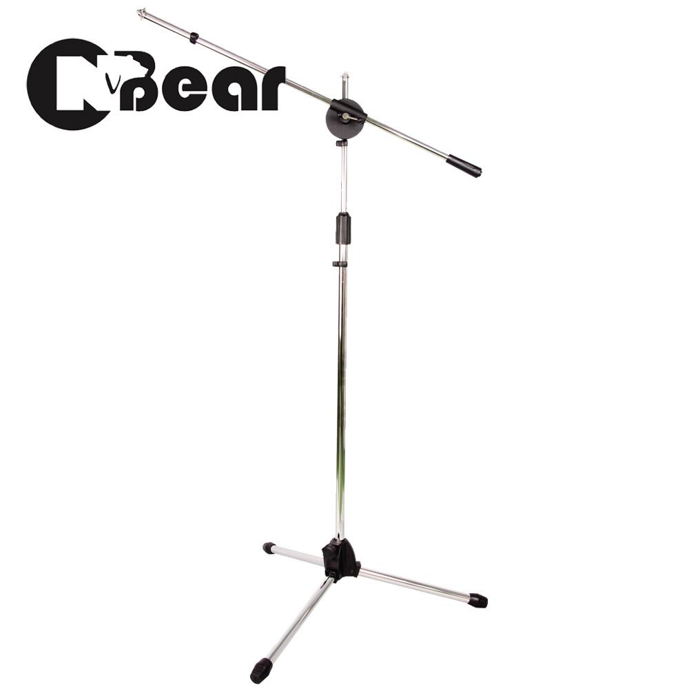 CNBear K-315 專業落地型 直.斜兩用 麥克風架 銀色款