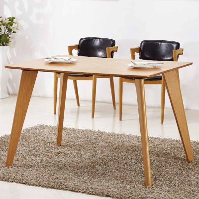 AT HOME - 喬絲4尺木紋餐桌 120x80x75cm