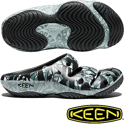 KEEN 1018195黑/淺灰 Yogui Arts 男戶外護趾拖鞋