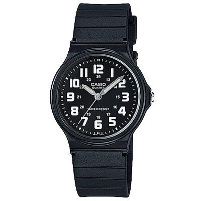 CASIO 簡約時尚魅力指針腕錶(MQ-71-1B)-黑盤白字/34.9mm