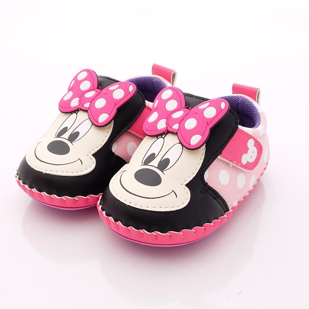 迪士尼童鞋-米妮大logo軟質款-453247粉(寶寶段)HN
