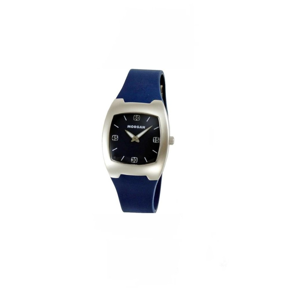 MORGAN 潮流精選運動風時尚腕錶-藍/35mm
