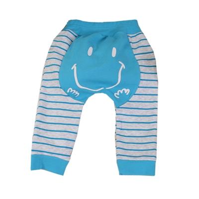 笑臉條紋長褲 灰藍 k60229