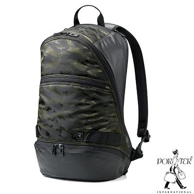PORTER-迷彩型格HUNTER高機能時尚後背包-綠