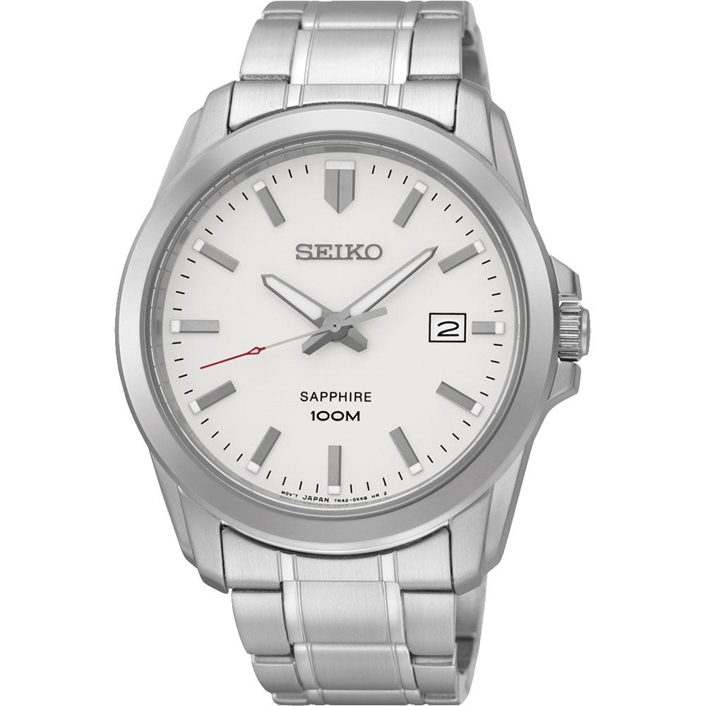 SEIKO CS系列大三針石英錶(SGEH45P1)-銀白/41mm