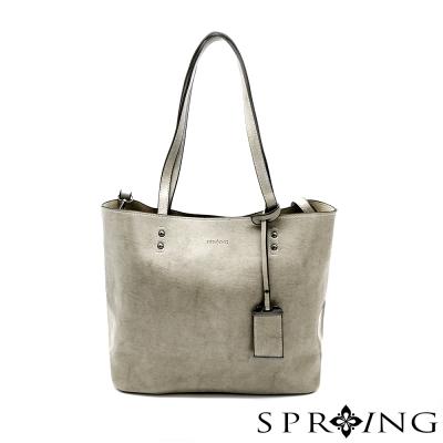 SPRING-優雅生活托特包-氣質灰