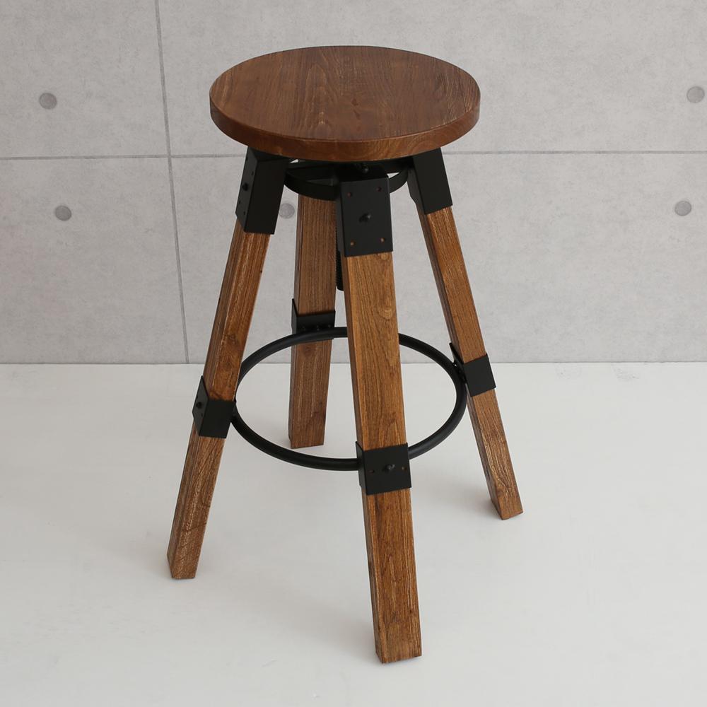 微量元素 手感工業風美式吧台椅