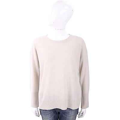 MARELLA 喀什米爾坑條羅紋領米色針織羊毛衫