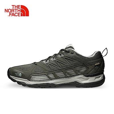 The North Face北面男款灰色防水登山徒步鞋