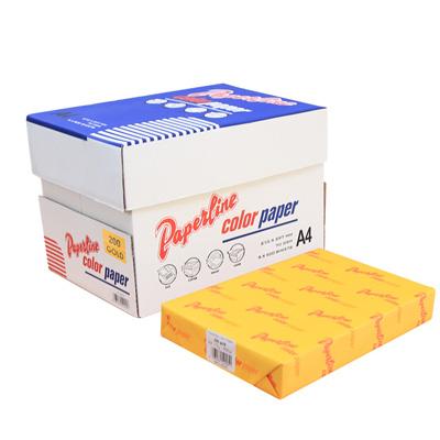 PAPERLINE 彩色影印紙 200 / 70P / A4 金黃 (5包/箱)