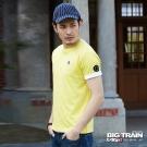 BIG TRAIN JPN家徽雲紋圓領T-男-亮黃綠