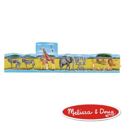 美國瑪莉莎 Melissa & Doug 4 合 1 連接式地板拼圖 - 非洲動物,96片