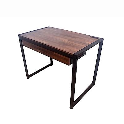 凱堡 拼木工作桌電腦桌書桌 工業風98x60x75(cm)