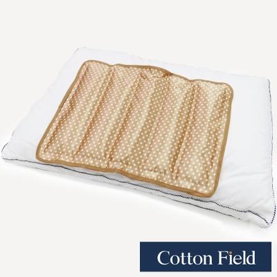 棉花田-冰點-晶亮紗酷涼冷凝萬用墊-酷金色