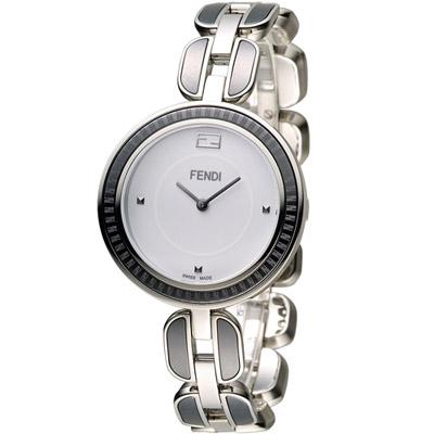 FENDI 芬迪 MY WAY 經典美學時尚腕錶-白x黑/36mm