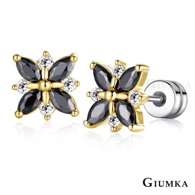 GIUMKA 花蝶 栓扣式耳環-金色D