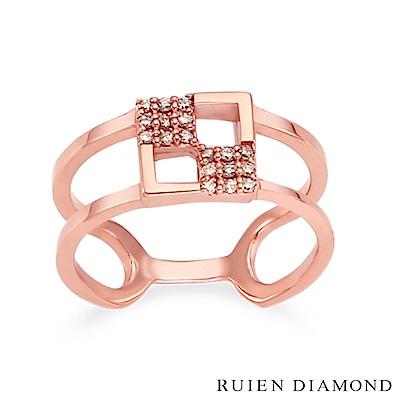 RUIEN DIAMOND 韓國輕珠寶 飾品 配件14K玫瑰金 戒指 LR149