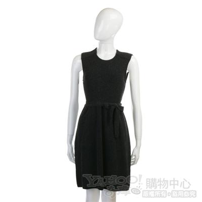 LOVE SEX MONEY 深灰色針織款綁帶背心洋裝