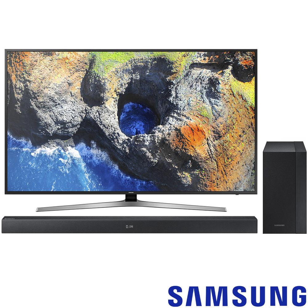三星75吋4K液晶電視75MU6100 HW-M360 2.1ch藍牙聲霸