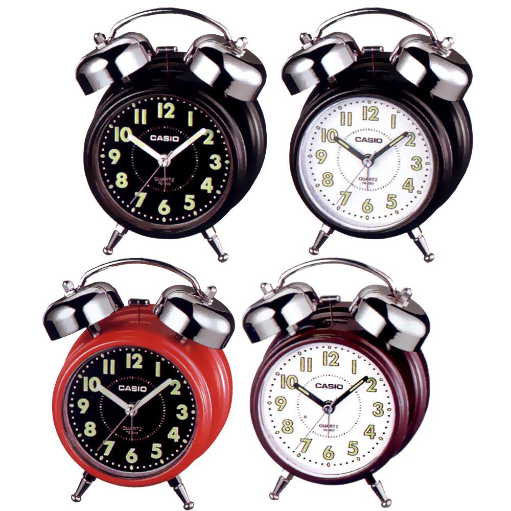 CASIO 指針雙響音鬧鐘(黑白面、紅、咖啡 )