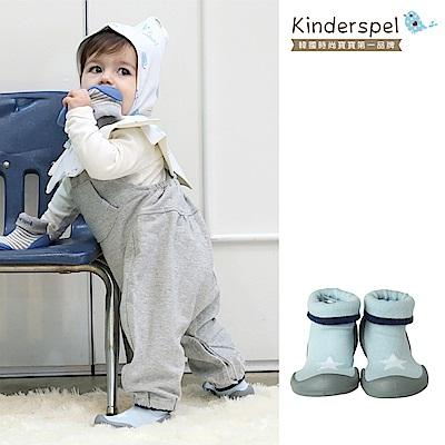 Kinderspel 輕柔細緻.套腳腳襪型學步鞋(星星天空藍)