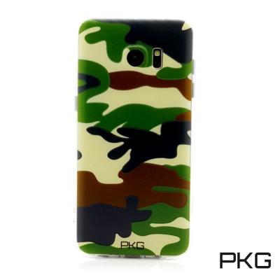 PKG Samsung S7-EDGE 彩繪空壓氣囊手機殼-浮雕彩繪-軍事迷彩