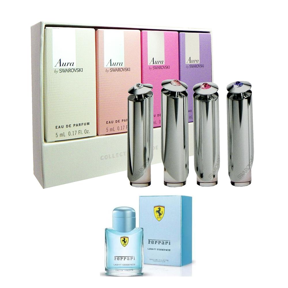 Swarovski 施華洛世奇 - 光芒淡香精小香禮盒( 4x5ml ) 搭贈氫元素4ml