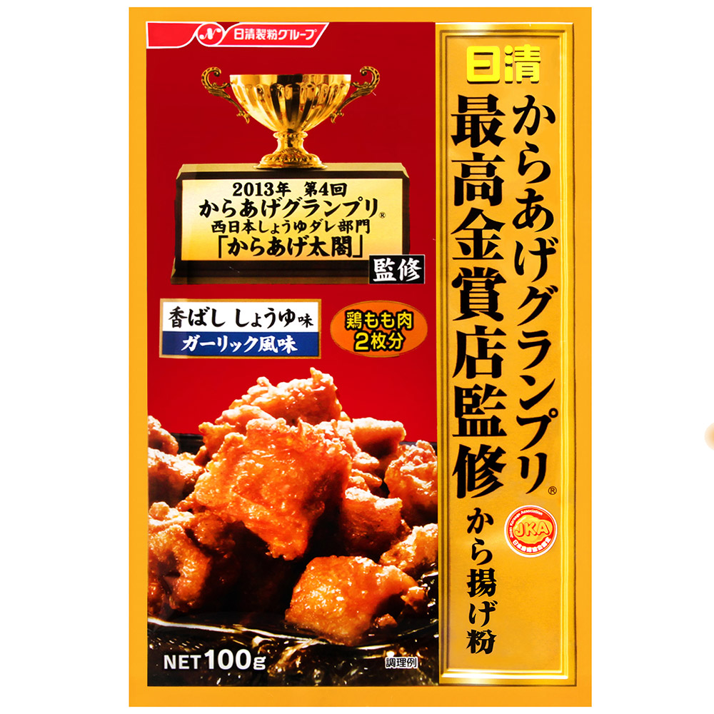 日清 最高金賞炸雞粉-醬油香蒜風味(110g)