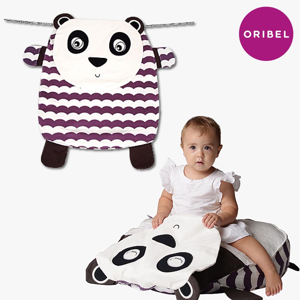 【ORIBEL奧麗貝】Peripop萌趣多功能萬用被/寶寶毯/收納袋-小熊貓