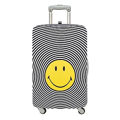 LOQI 行李箱外套 - 笑臉 S號  (適用21吋以下行李箱)