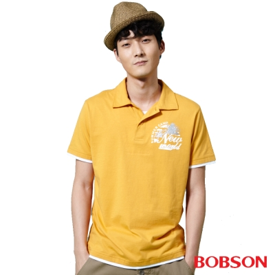 BOBSON  男款仿兩件POLO上衣