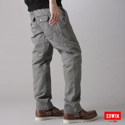 EDWIN-KAKHI-503多口袋休閒長褲-男款-橄欖綠