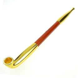 柘製作所 日本進口-丸福煙管(大)-金色款