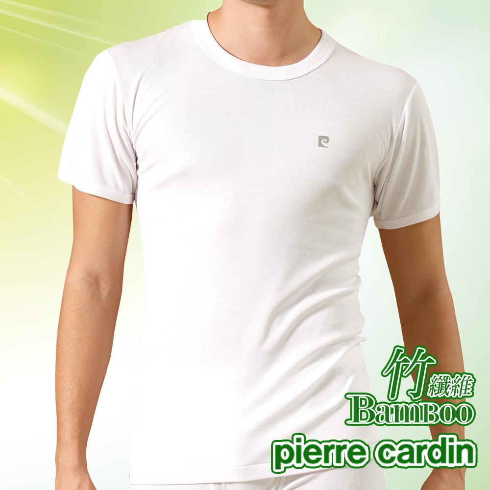 Pierre Cardin皮爾卡登 MIT製竹纖維圓領短袖衫-單件