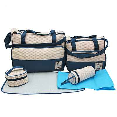 月陽高級進口花瑤布5件組多功能媽媽包送多功能內袋(B05)
