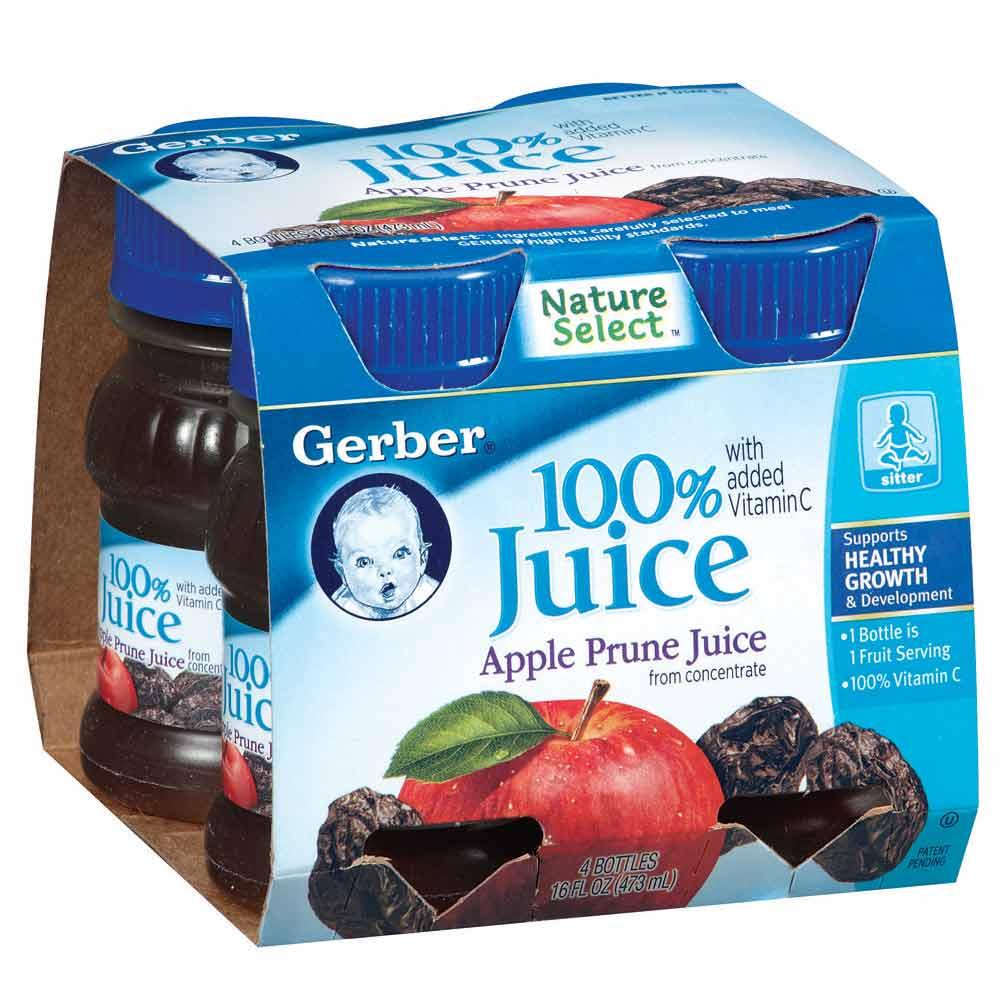 嘉寶 100%蘋果黑棗汁(118mlx4入)