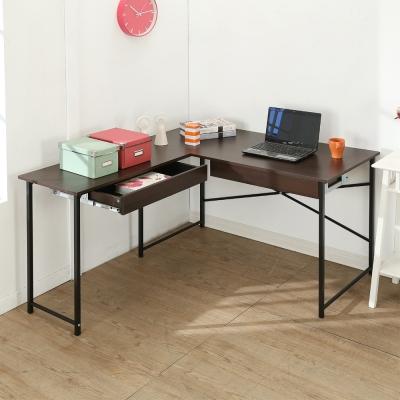BuyJM超值防潑水L型雙抽屜工作桌/電腦桌/寬140*120cm-DIY