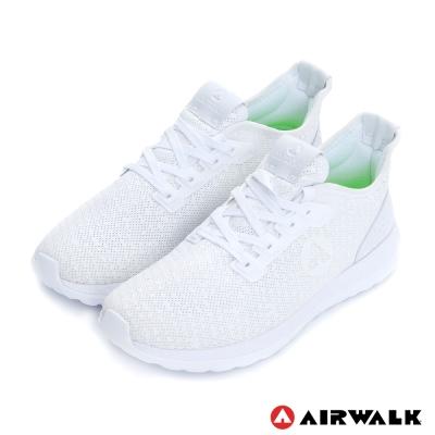 美國AIRWALK網眼透氣輕量慢跑鞋運動鞋-男(晶白)