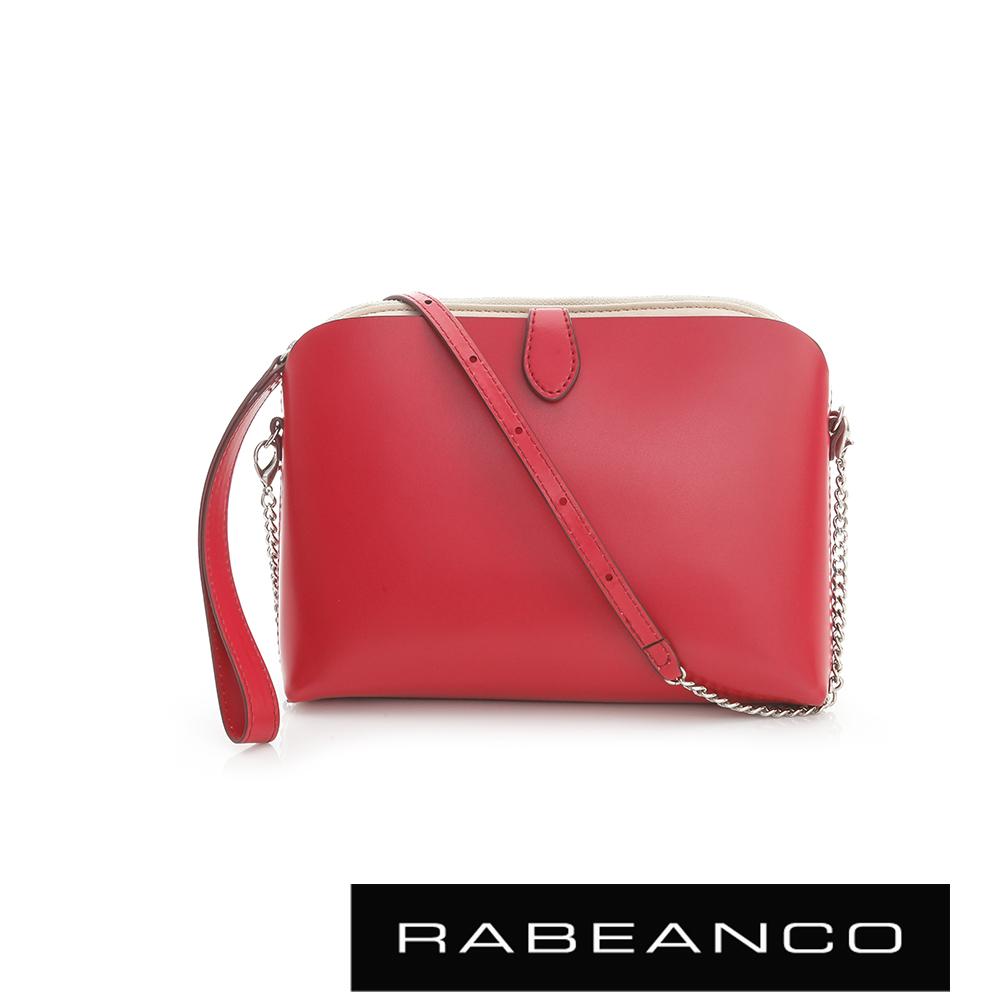 RABEANCO 迷時尚系列鍊帶設計肩背包 - 紅