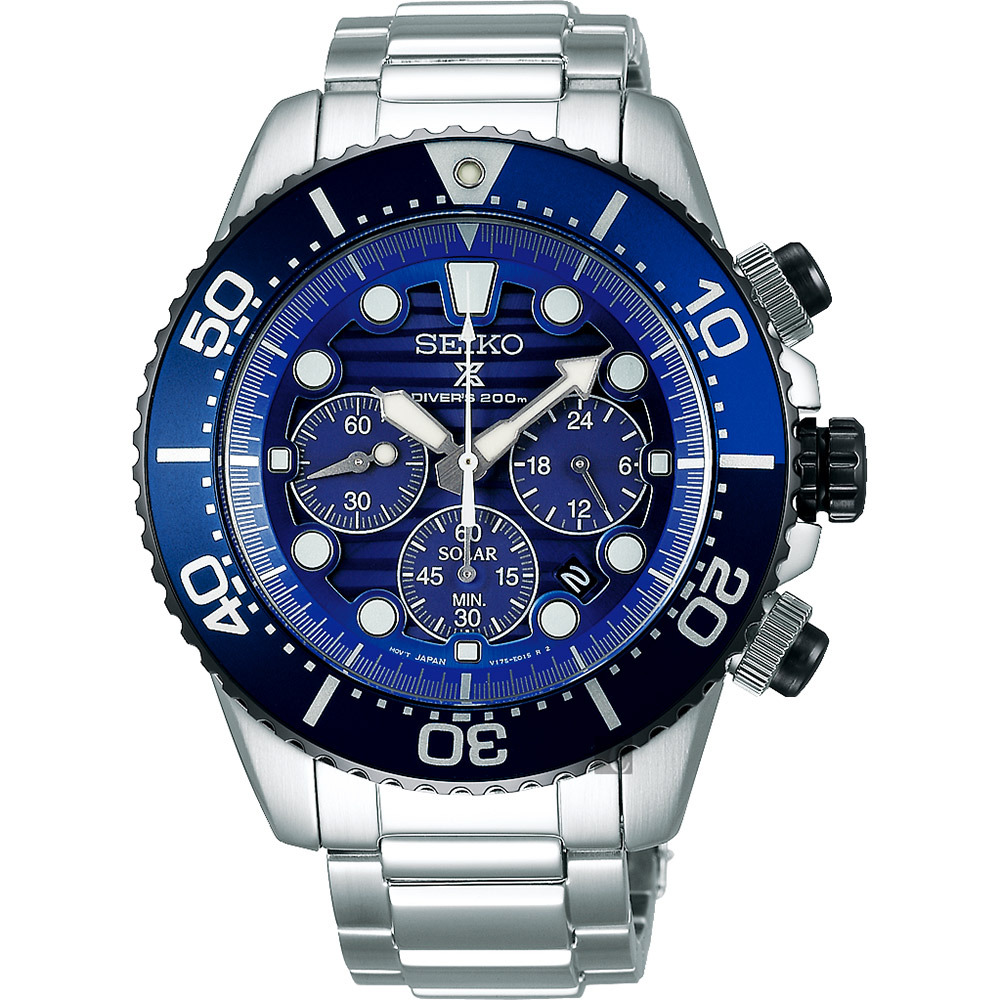 (無卡分期6期)SEIKO精工 Prospex 愛海洋太陽能計時手錶(SSC675P1)