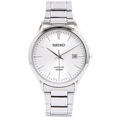SEIKO 優雅美學藍寶石男性手錶( SGEG93P1) - 銀面x銀色/40mm