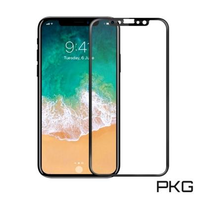 PKG Apple IPhone X 螢幕保護貼-全滿版玻璃(不碎邊)