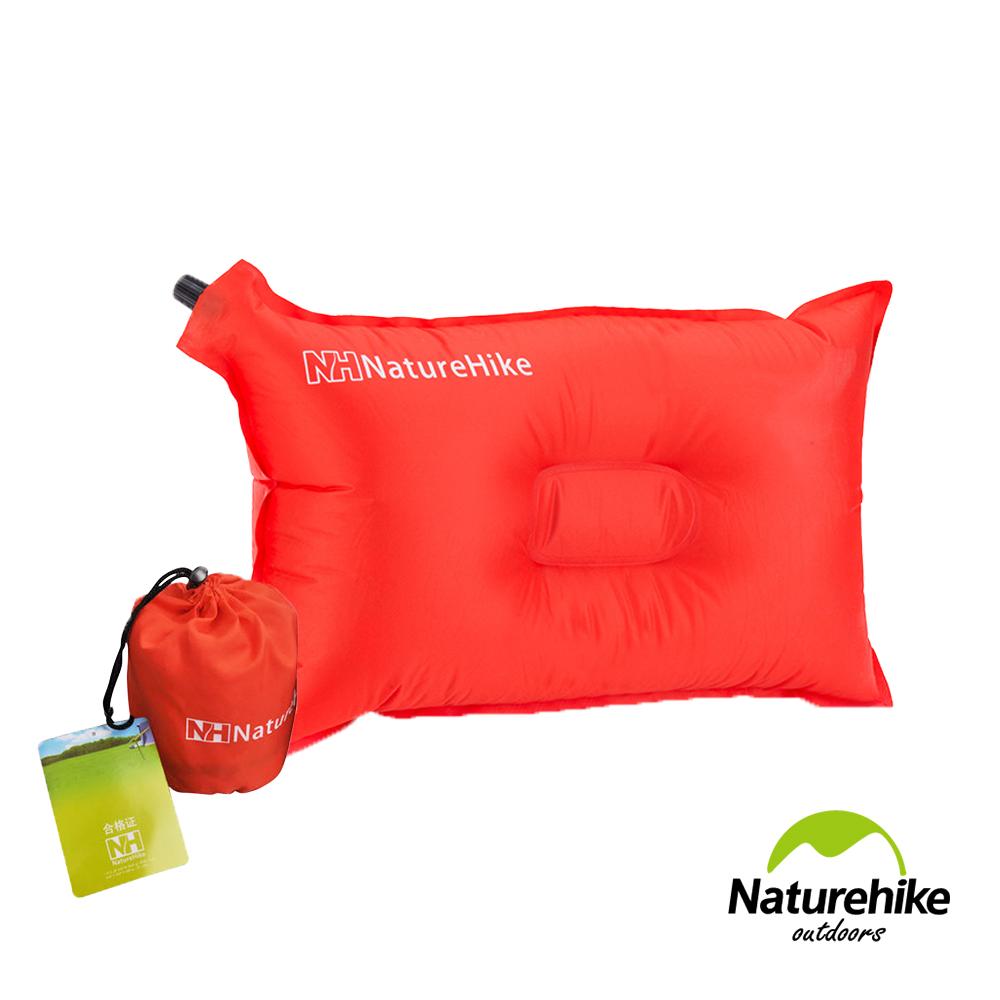 NH 戶外露營 自動充氣枕頭 紅色 - 快速到貨