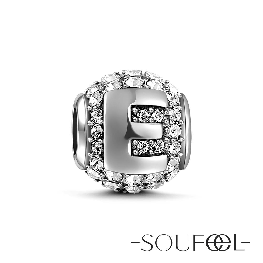 SOUFEEL索菲爾 925純銀珠飾 字母 E 串珠